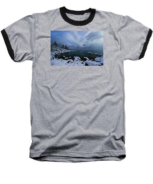 Lake Tahoe Snow Day Baseball T-Shirt