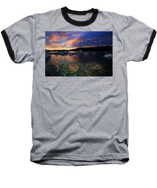Lake Tahoe Sundown Baseball T-Shirt