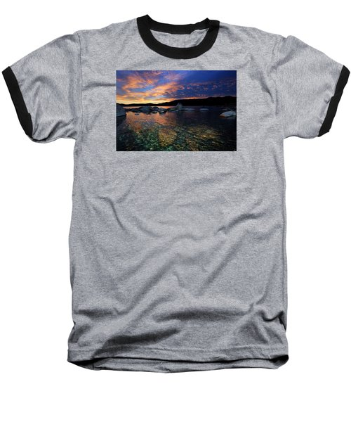 Lake Tahoe Sundown Baseball T-Shirt
