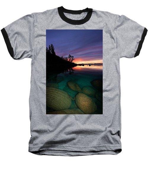 Lake Tahoe Sunset Portrait Baseball T-Shirt