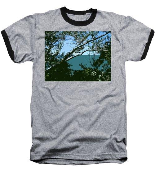 Lake Through The Trees Baseball T-Shirt