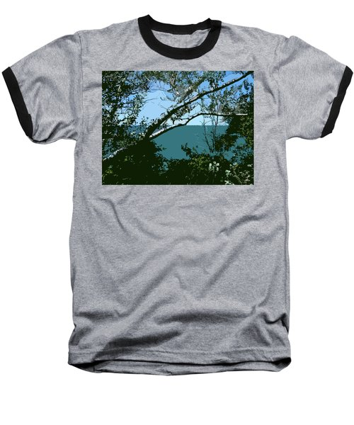 Lake Through The Trees Baseball T-Shirt
