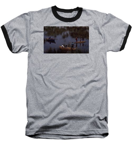 Lake Titicaca Reed Boats Baseball T-Shirt