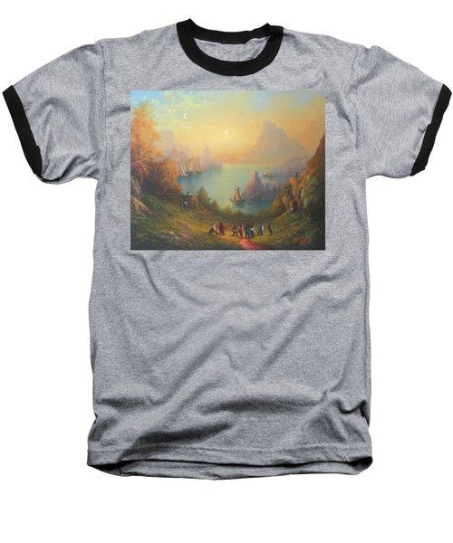 Lake Town Thirteen Dwarves And A Hobbit Named Bilbo Baseball T-Shirt by Joe  Gilronan