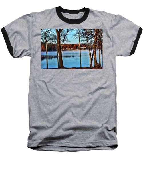 Lake Vapors Baseball T-Shirt by Rick Friedle