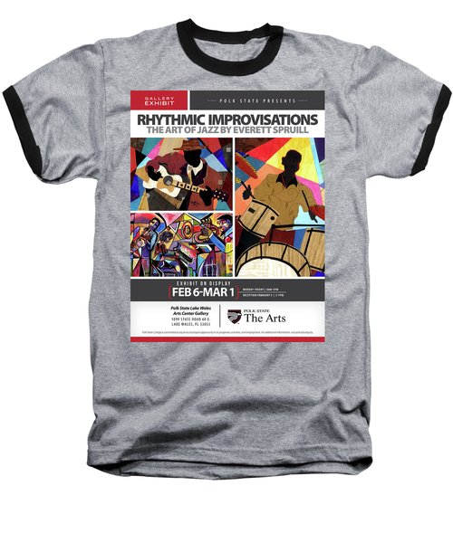 Rhythmic Improvisations - The Art Of Jazz Baseball T-Shirt