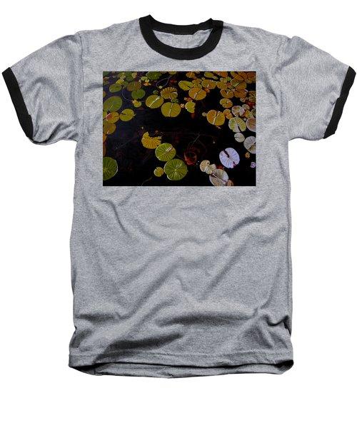 Baseball T-Shirt featuring the painting Lake Washington Lilypad 8 by Thu Nguyen