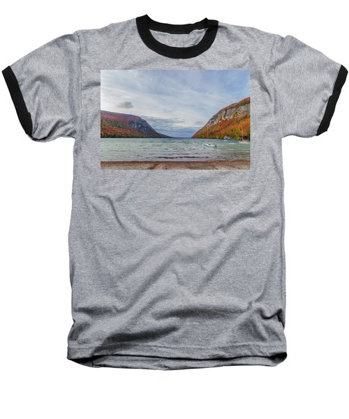 Lake Willoughby Blustery Fall Day Baseball T-Shirt by Tim Kirchoff