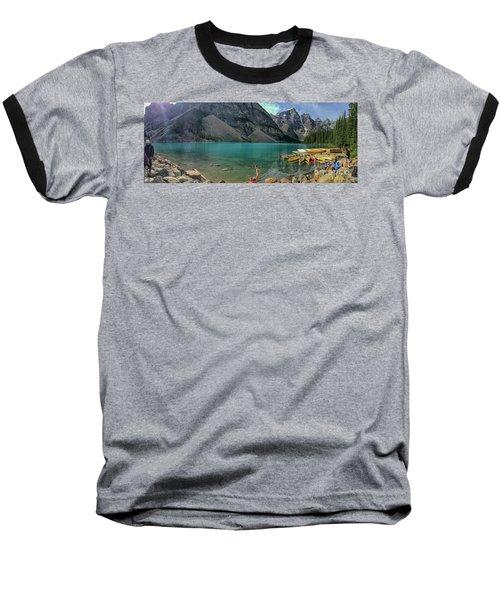Lake With Kayaks Baseball T-Shirt