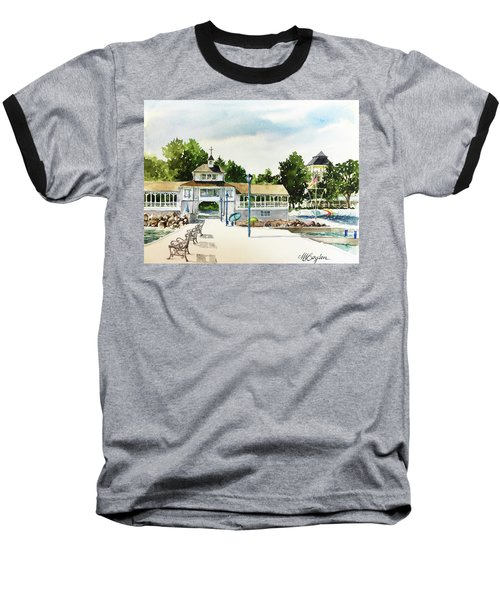 Lakeside Dock And Pavilion Baseball T-Shirt