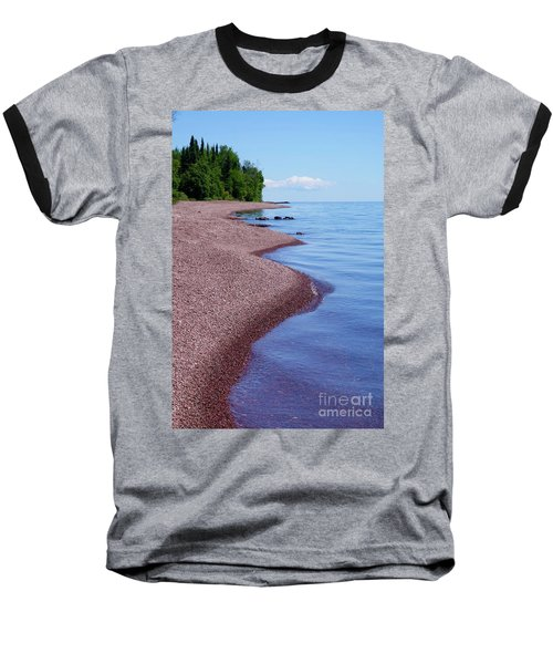 Lakewalk On The Superior Hiking Trail Baseball T-Shirt by Sandra Updyke