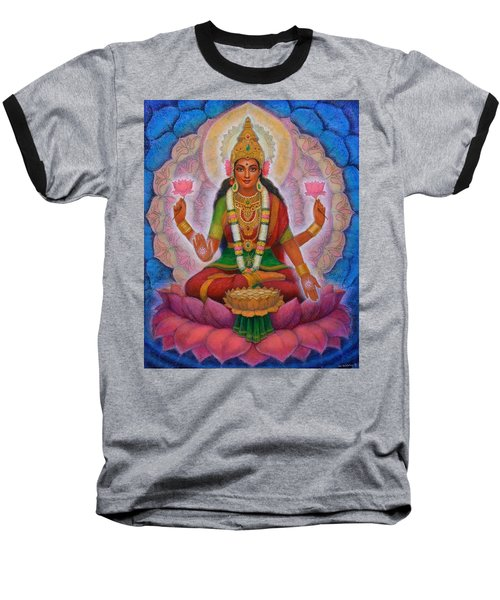 Baseball T-Shirt featuring the painting Lakshmi Blessing by Sue Halstenberg