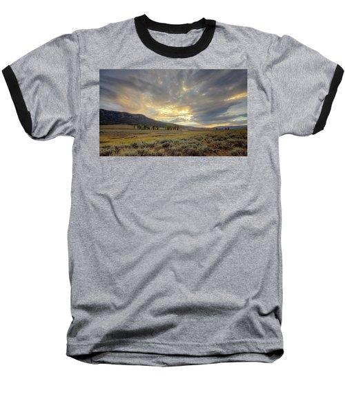 Lamar Valley Sunset Baseball T-Shirt