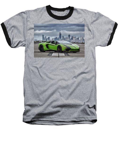 #lamborghini #aventadorsv #superveloce #roadster #print Baseball T-Shirt