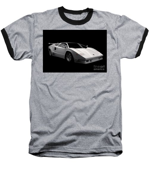 Lamborghini Countach 5000 Qv 25th Anniversary Baseball T-Shirt