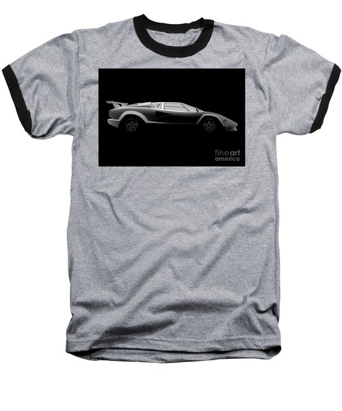 Lamborghini Countach 5000 Qv 25th Anniversary - Side View Baseball T-Shirt