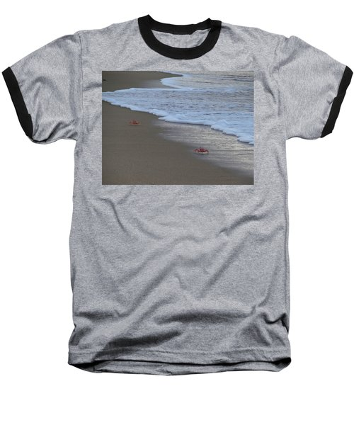 Lamu Island - Crabs Playing At Sunset 4 Baseball T-Shirt