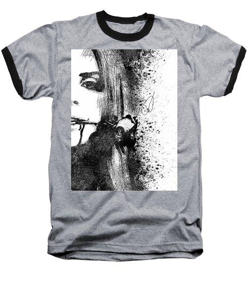 Lana Del Rey Half Face Portrait 2 Baseball T-Shirt