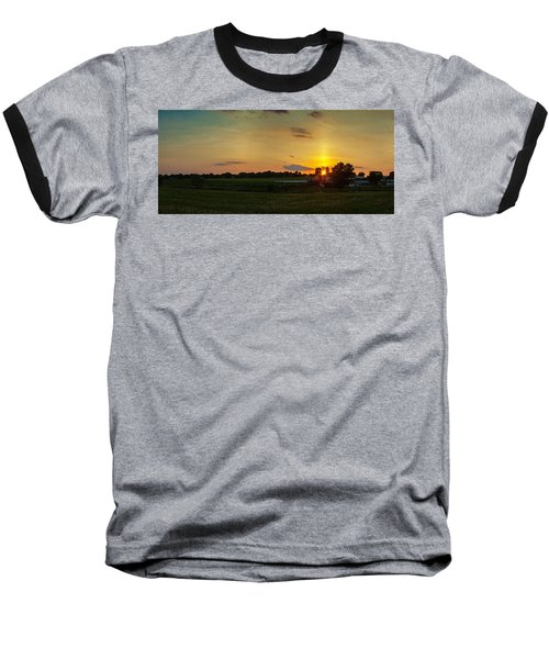 Lancaster Farm Sunset Panorama Baseball T-Shirt