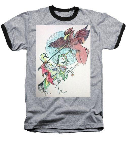 Lancelot And Griffin  Baseball T-Shirt