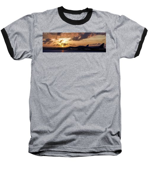 Baseball T-Shirt featuring the photograph Lancer Flightline by Peter Chilelli