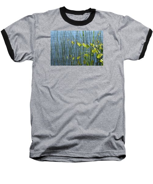 Baseball T-Shirt featuring the photograph Land And Water Plants  by Lyle Crump