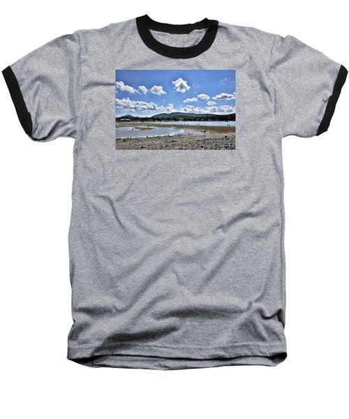 Land Bridge From Bar Harbor To Bar Island - Maine Baseball T-Shirt by Brendan Reals