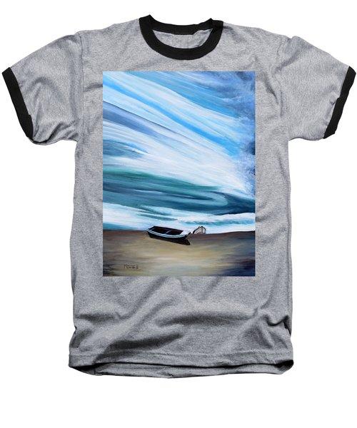 Land Meets Sky Baseball T-Shirt by Marilyn  McNish