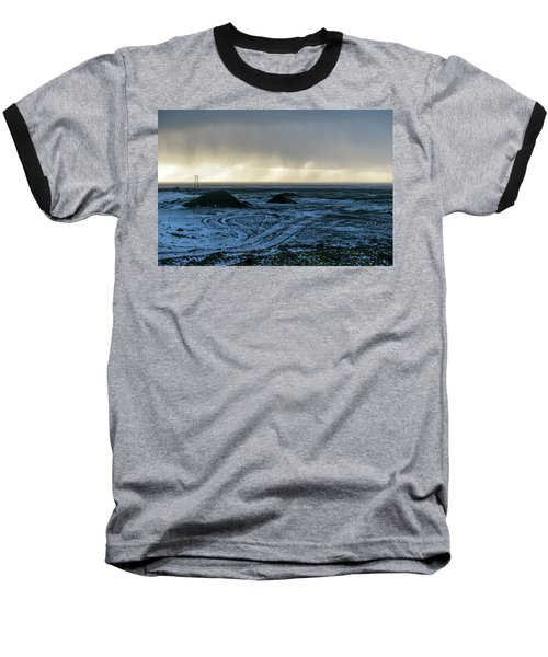 Baseball T-Shirt featuring the photograph land of Lava by Dubi Roman