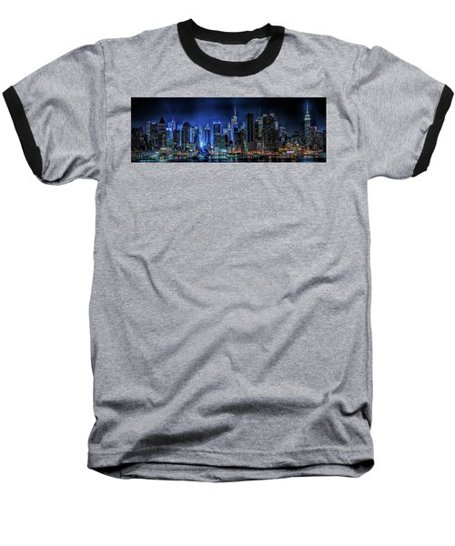 Baseball T-Shirt featuring the photograph Land Of Tall Buildings by Theodore Jones