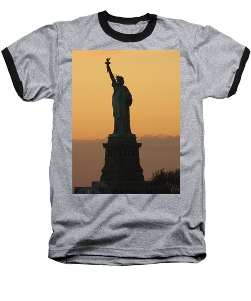 Baseball T-Shirt featuring the photograph Land Of The Free And The Brave by Emmy Marie Vickers
