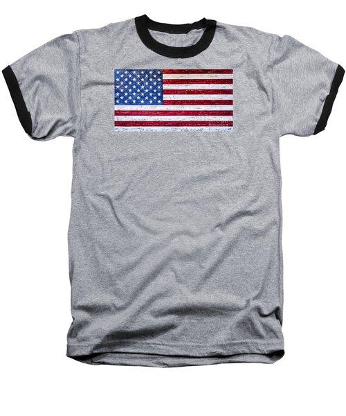 Land Of The Free Baseball T-Shirt by David Millenheft