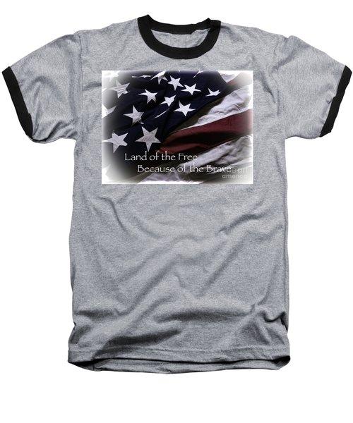 Land Of The Free Baseball T-Shirt