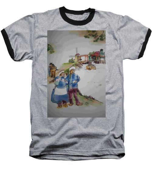 Land Of Windmill Clogs  And Tulips Album Baseball T-Shirt by Debbi Saccomanno Chan