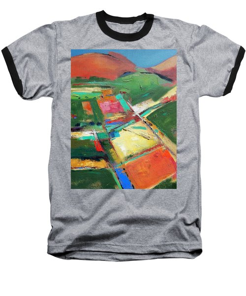 Land Patches Baseball T-Shirt by Gary Coleman