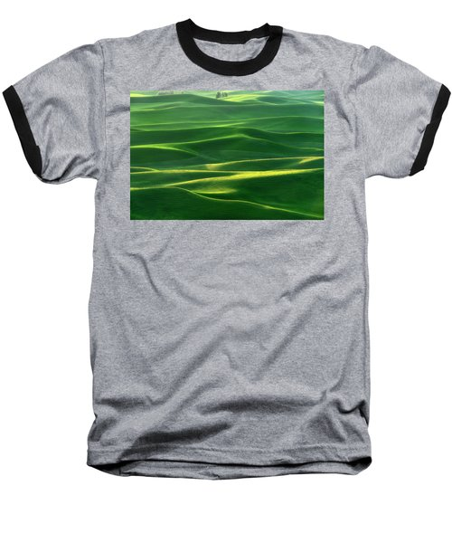 Land Waves Baseball T-Shirt by Ryan Manuel
