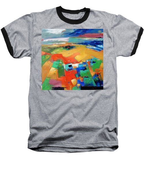 Baseball T-Shirt featuring the painting Landforms, Suggestion Of A Memory by Gary Coleman