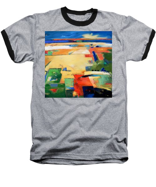 Baseball T-Shirt featuring the painting Landforms, You've Never Been Here by Gary Coleman