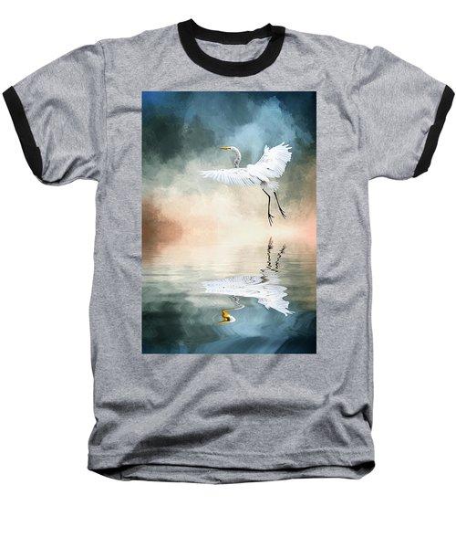 Landing At Dawn Baseball T-Shirt by Cyndy Doty