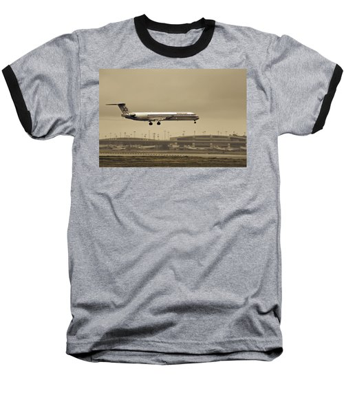 Landing At Dfw Airport Baseball T-Shirt by Douglas Barnard