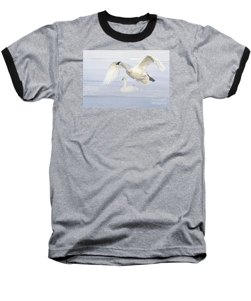 Baseball T-Shirt featuring the photograph Landing In The Cold by Larry Ricker
