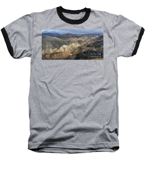 Landmannalaugar Rhyolite Mountains Iceland Baseball T-Shirt by Rudi Prott