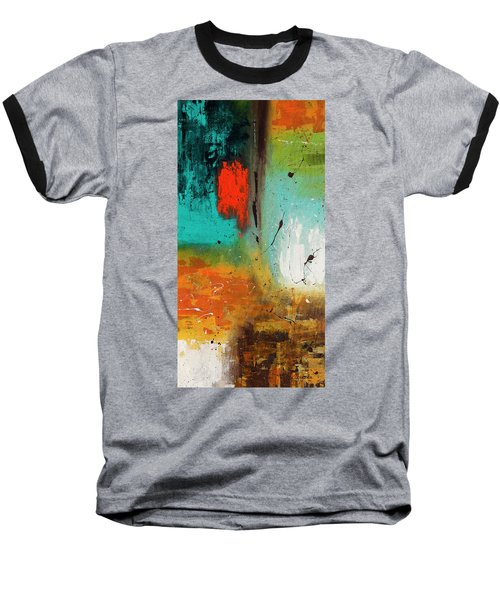 Baseball T-Shirt featuring the painting Landmarks by Carmen Guedez