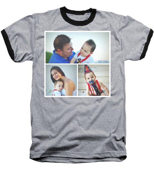 Landon Collage  Baseball T-Shirt by Robert Smith
