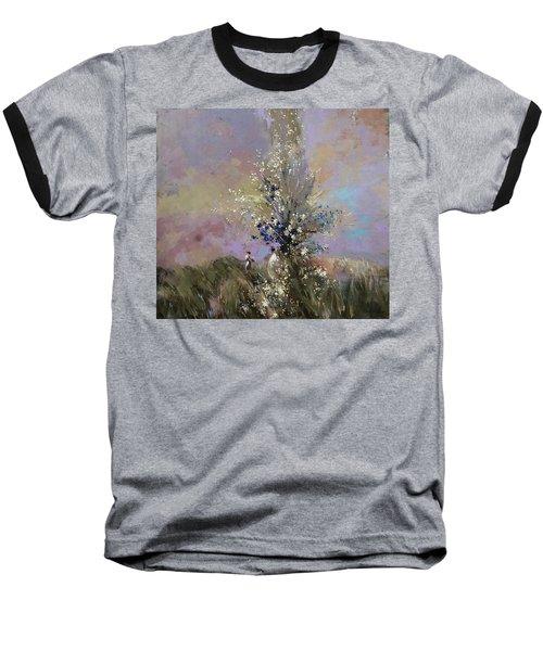 Landscape . I Was Lucky Today. Baseball T-Shirt by Anastasija Kraineva