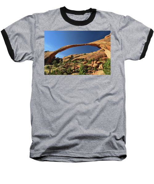 Baseball T-Shirt featuring the photograph Landscape Arch by Dana Sohr