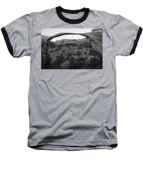 Landscape Arch Baseball T-Shirt by Marie Leslie