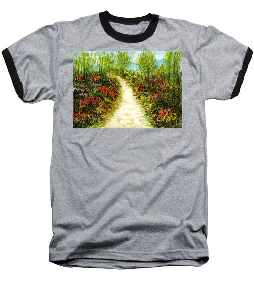 Baseball T-Shirt featuring the painting Landscape by Harsh Malik