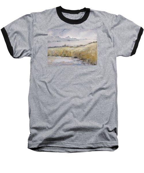 Landscape In Gray Baseball T-Shirt by Carolyn Doe