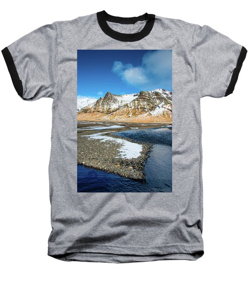 Baseball T-Shirt featuring the photograph Landscape Sudurland South Iceland by Matthias Hauser